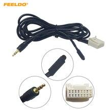 FEELDO-prise de prise de 3.5mm   Voiture, câble Audio CD avec Micphone pour Subaru Forester 2013, fil AUX # HQ6159