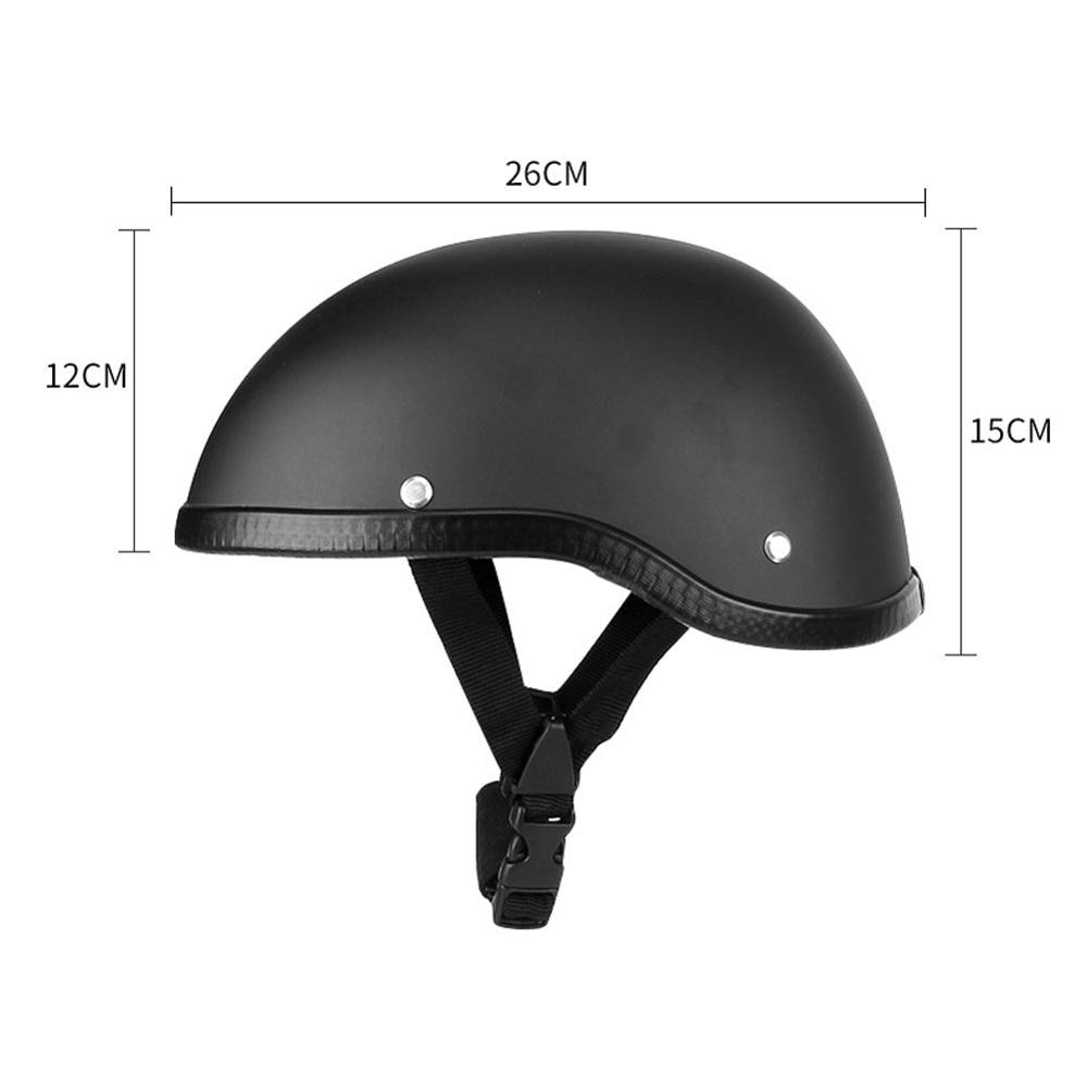 OLOMM Adult Motorcycle Half Face Vintage Helmet Hat Cap Men/Women Skull Cap Motorcycle Helmet Vintage Half Face Helmet enlarge
