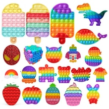 Gelato Bubble Toy Rainbow Push Bubble Fidget giocattoli giocattoli sensoriali Kid adulto autismo antistress spremere morbido giocattolo Squishy