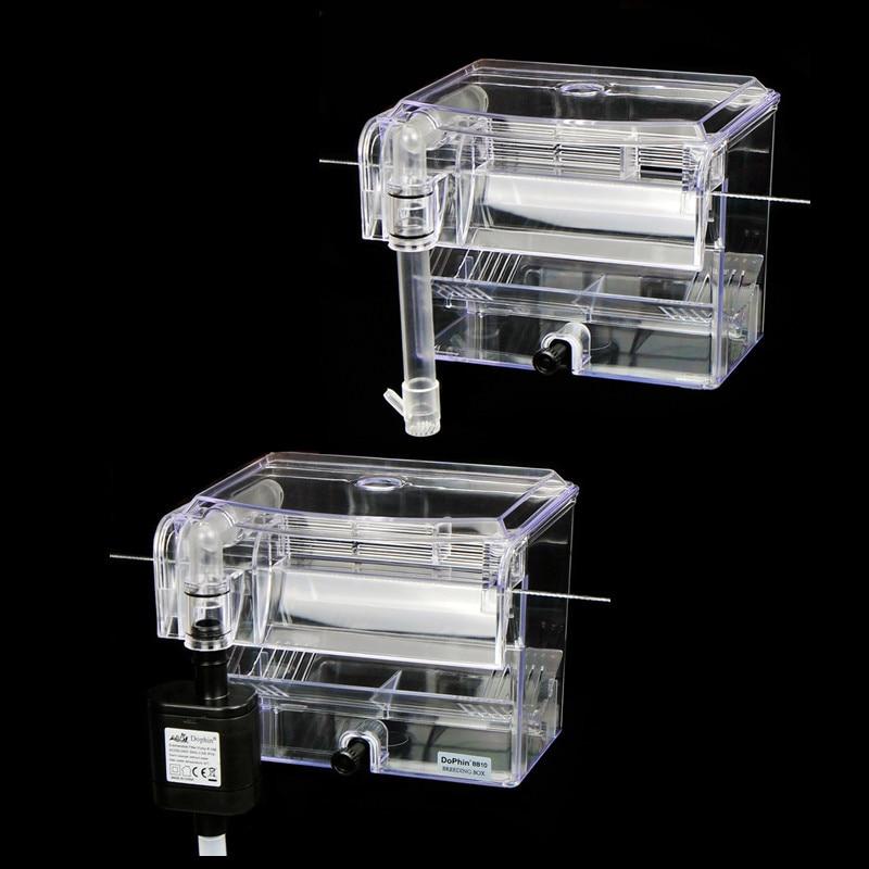 Caja de cría de acuario externo transparente, caja de aislamiento de tanque de pez colgante con bomba de agua, Incubadora de pecera