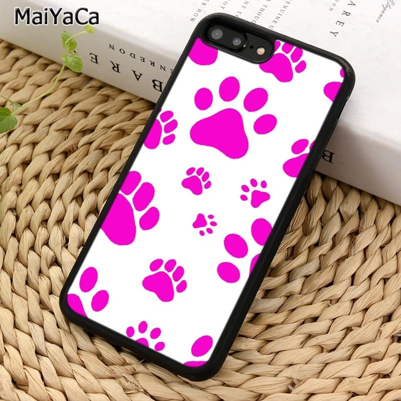 MaiYaCa perro huella patrón teléfono caso para iPhone 5 S 6 S 7 8 plus 11 Pro X XR XS Max Samsung Galaxy S6 S7 S8 S9 S10 plus