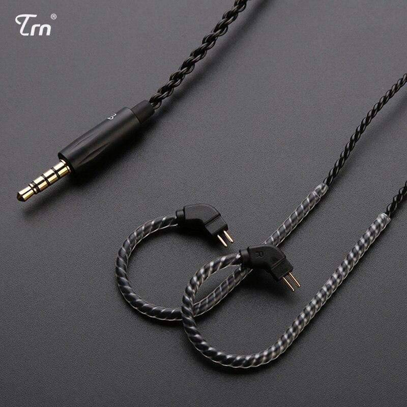 3.5mm a 2pin 0.75mm 0.78mm prata chapeado fone de ouvido cabo mmcx fones de ouvido com microfone/sem microfone cabo destacável