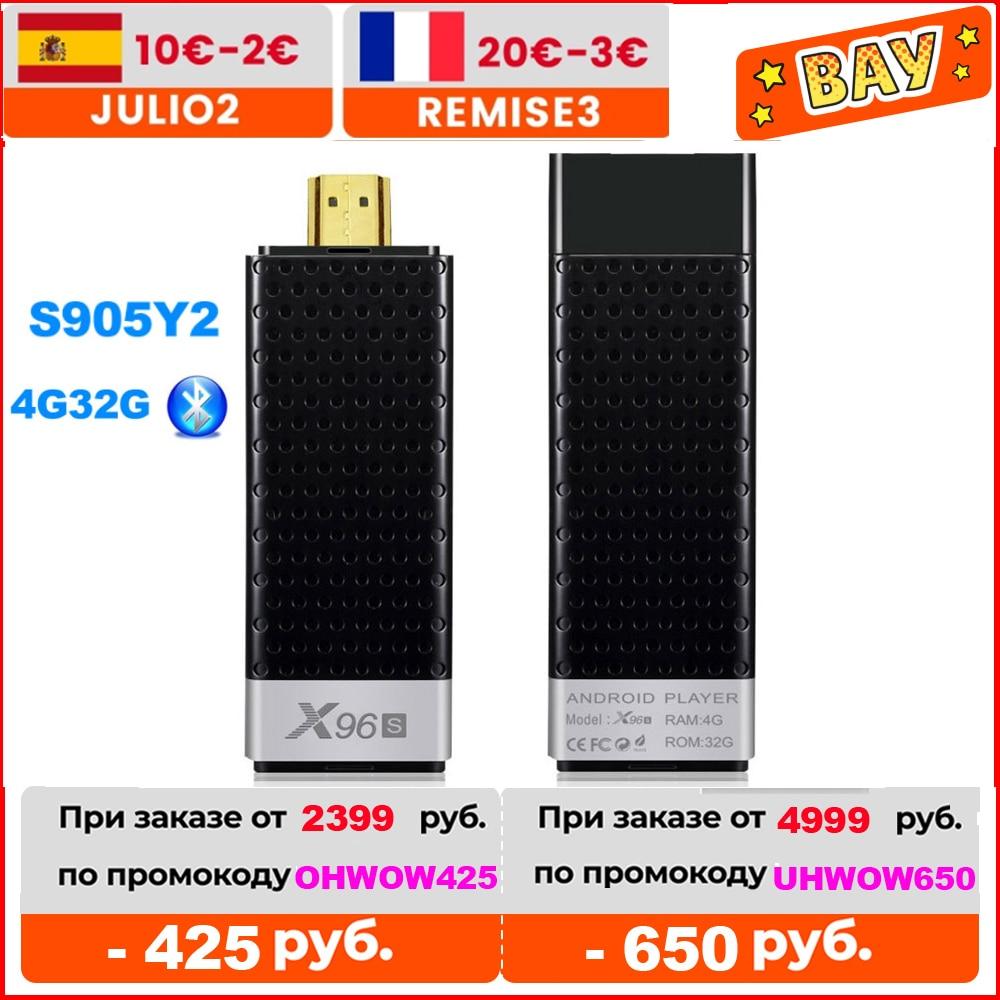 X96S TV Stick Amlogic S905Y2 Smart Android 9.0 TV Box DDR3 4GB 32GB X96 Mini PC 5G WiFi BT 4.2 TV Dongle 4K Media Player