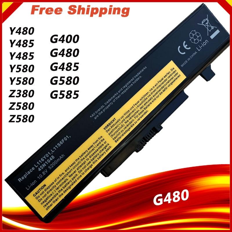 بطارية كمبيوتر محمول لينوفو G510 G480 G485 G585 G580 Y480 Y580 Z380 Z480 Z580 Z585 Z485 6 خلايا