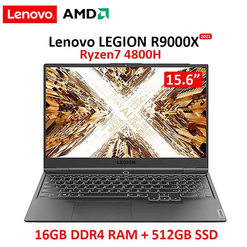 Get Lenovo Legion AMD R9000X 2021 New Windows10  Ryzen7 4800H GTX/RTX 16GB RAM 512G SSD 15.6inch IPS screen Gaming notebook computer