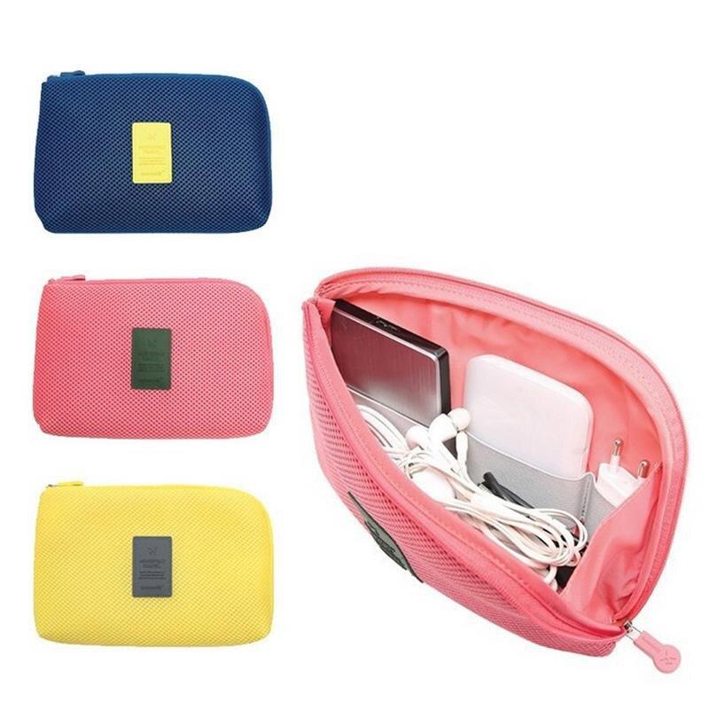 Kit de sistema organizador Bolsa de dispositivos de almacenamiento portátil Gadget Digital Cable USB auricular lápiz viaje cosmético inserto