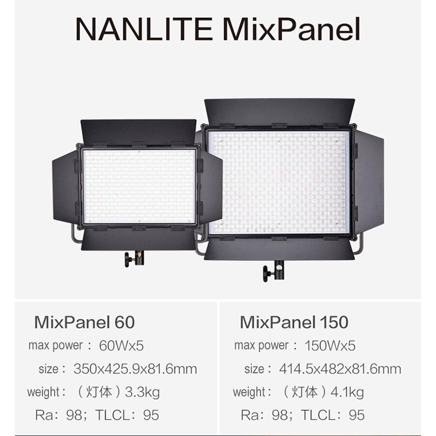Nanlite Nanguang MixPanel 60W-150W, luz LED de estudio RGB a todo Color, luz especial de fotografía, iluminación para Canon, Nikon, Sony flash