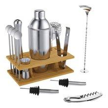14 pièces 304 en acier inoxydable barman Cocktail barman outil en acier inoxydable barre Cocktail Shaker ensemble Barware Kit