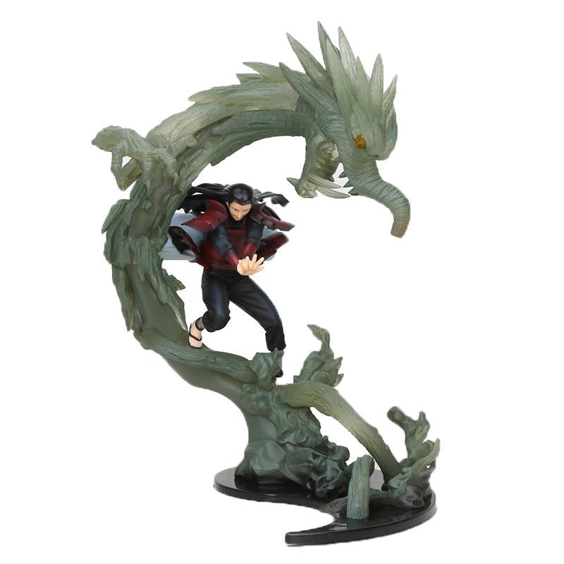 NARUTO figura Tobirama hashitama Senjiu Hashirama Madara Uchiha versión de batalla de fuego Naruto figura de acción modelo juguetes 25cm