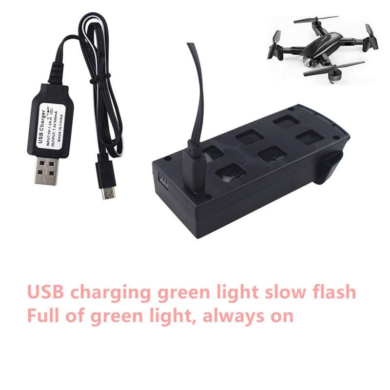 Cable de carga USB para Dron cuadricóptero plegable, accesorio de cargador de...