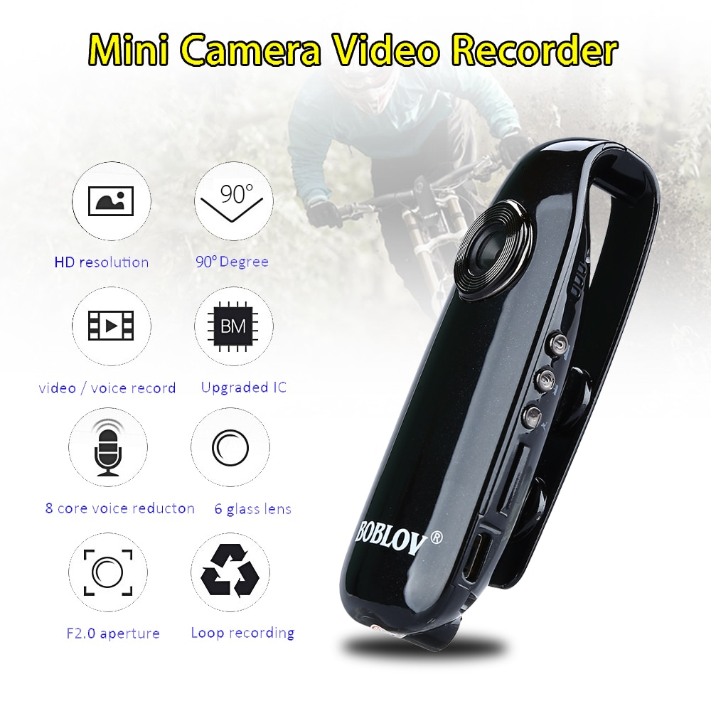 Boblov HD 1080P Mini Kamera 007 Körper Cam DVR Kameras Bewegungserkennung Digitale Camcorder Loop-aufnahme Dashcam Baby Monitor