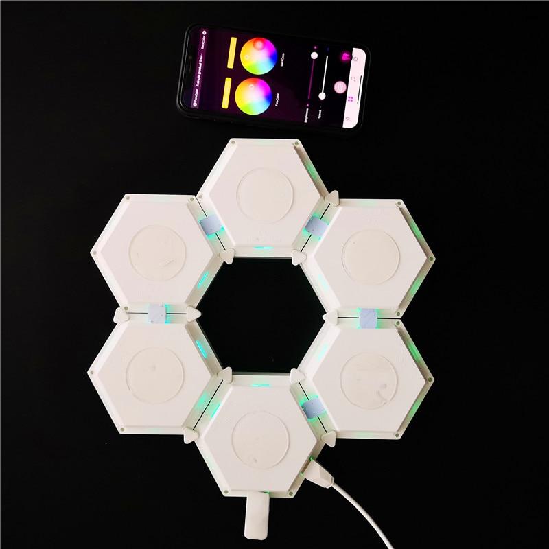 Smart APP Control RGB Night Lamp for Bedroom Decor New Quantum Lamp DIY LED Night Light Creative Geometry Assembly Panels enlarge