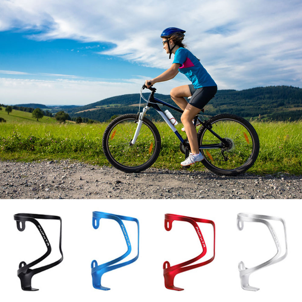bike bottle cage aluminum alloy integrated molding mtb road bike cycling water bottle cage bottle holder bicycle accessories Practical Bike Water Bottle Holder Aluminum Alloy Bottle Cage for MTB Road Bike Bicycle Accessories