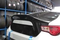 car accessories for toyota brz ft86 gt86 frs leg style carbon fiber rear spoiler glossy finish trunk splitter lip fibre wing kit