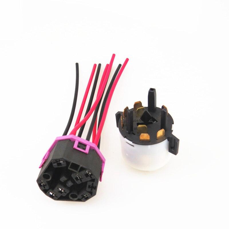 AZQFZ interruptor de encendido + Cable conector de cableado para VW Jetta MK4 Bora Sharan Fox Euro A6 A4 A3 Seat Leon Ibiza Octavia 4B0905849