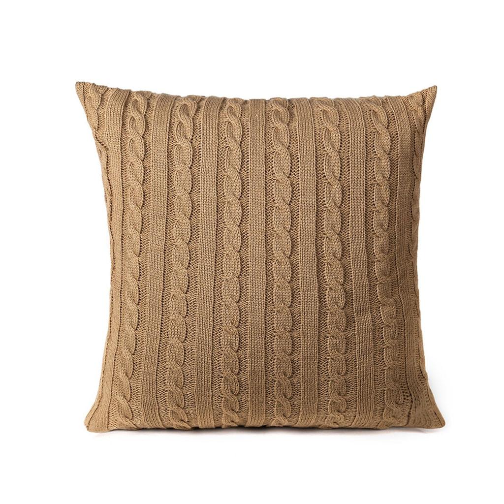 Moda acrílico travesseiro caso luxo quadrado piso quarto fronhas decorativas cor sólida cafe sofá criação capa de almofada