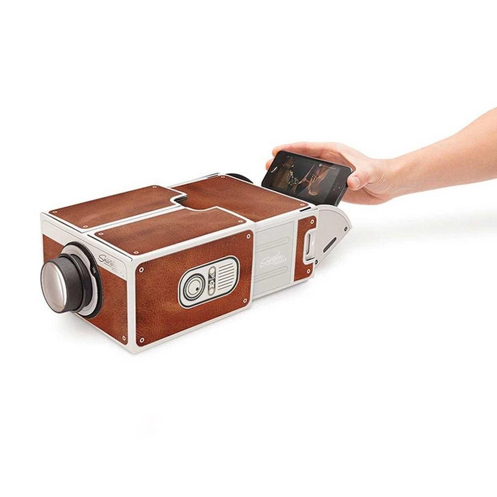 Портативный картонный проектор для смартфона 2.0 проектор для домашнего кинотеатра аудио видео проектор