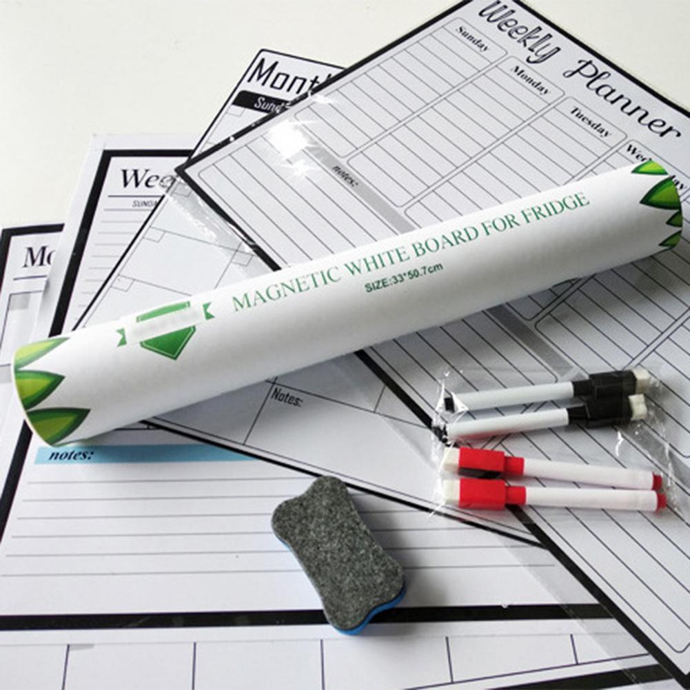 Magnetic Calendars Monthly Weekly Planner Dry Erase Calendar Magnetic removable magnetic message board Weekly Fridge magnet