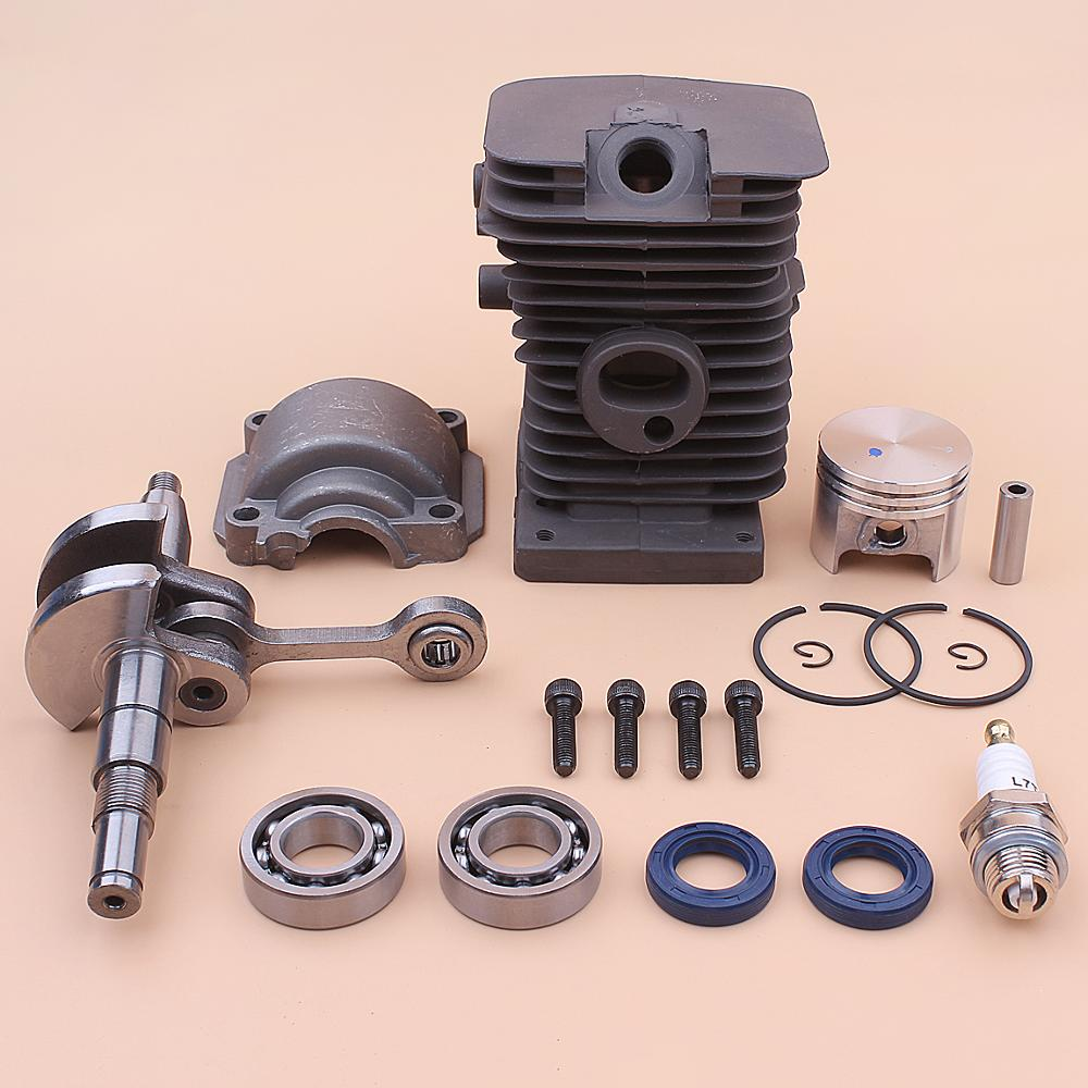 Cigüeñal 37mm cilindro pistón motor Pan Base Kit para Stihl MS170 017 MS 170 cigüeñal cojinete aceite sello motosierra 1130 020 1204