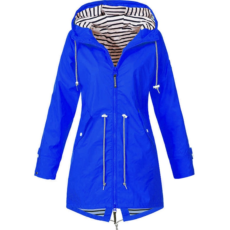 Mulher ao ar livre impermeável casaco de chuva senhora manga longa com capuz vento jaqueta senhoras packable ativo leve com capuz jaqueta thj99