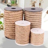 10m natural brown sisal rope for cat climbing frame diy hand made jute rope lamp decoration rope binding hemp ropes packaging