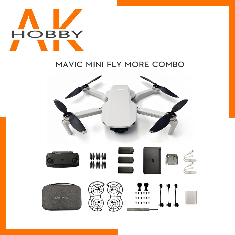 DJI-Mini Dron Mavic FLy More Combo, con cámara de 2,7 k, tiempo...