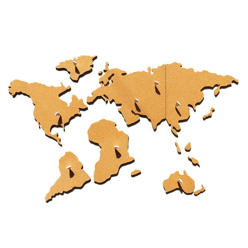 Pared de fotos tablero de mensajes mapa del mundo corcho madera Phellem aviso escolar tablón de anuncios decoración del hogar adhesivo Pin de pegatina regalos