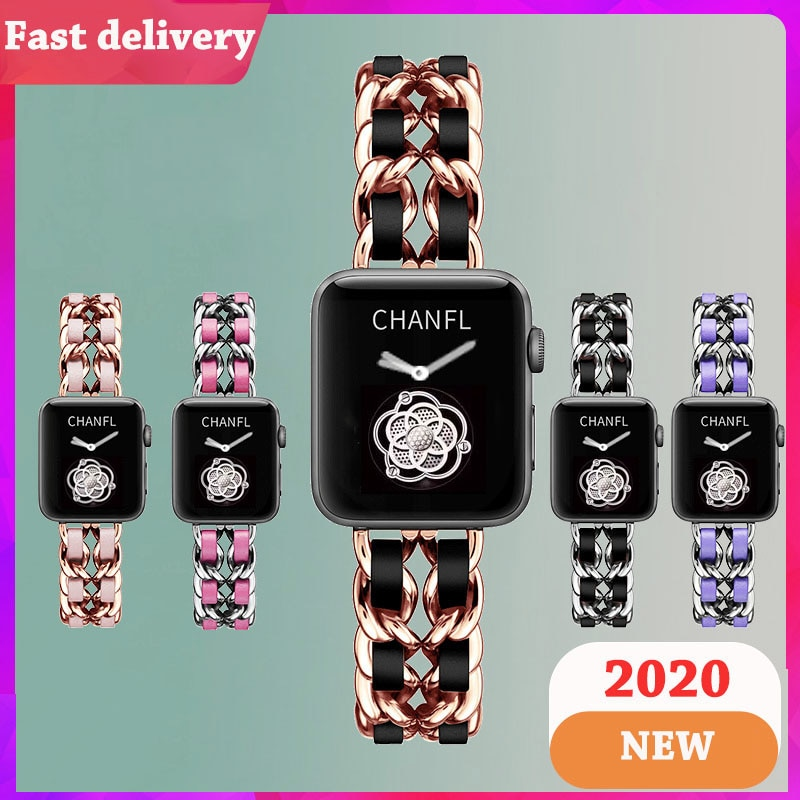New Strap For Apple Watch 6 5 4 3 Band  Stainless Steel luxury 38mm 42mm Bracelet Band for iWatch series 5 4 3/1 40mm 44mm strap woman strap for apple watch band 40mm 44mm link bracelet iwatch band 38mm 42mm stainless steel for apple watch series 6 5 4 3 2