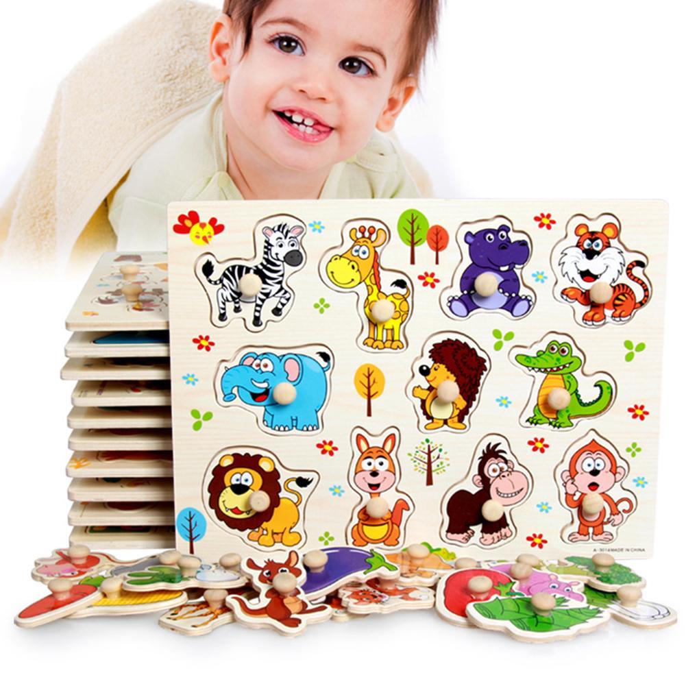 Dibujo de letra, número, forma de Animal, Emparejamiento, rompecabezas, juguete infantil educativo, aprendizaje temprano, juguetes educativos Montessori