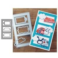 jc tag rectangle background metal cutting dies scrapbooking embossing frame diy card make stencil craft folder model album decor