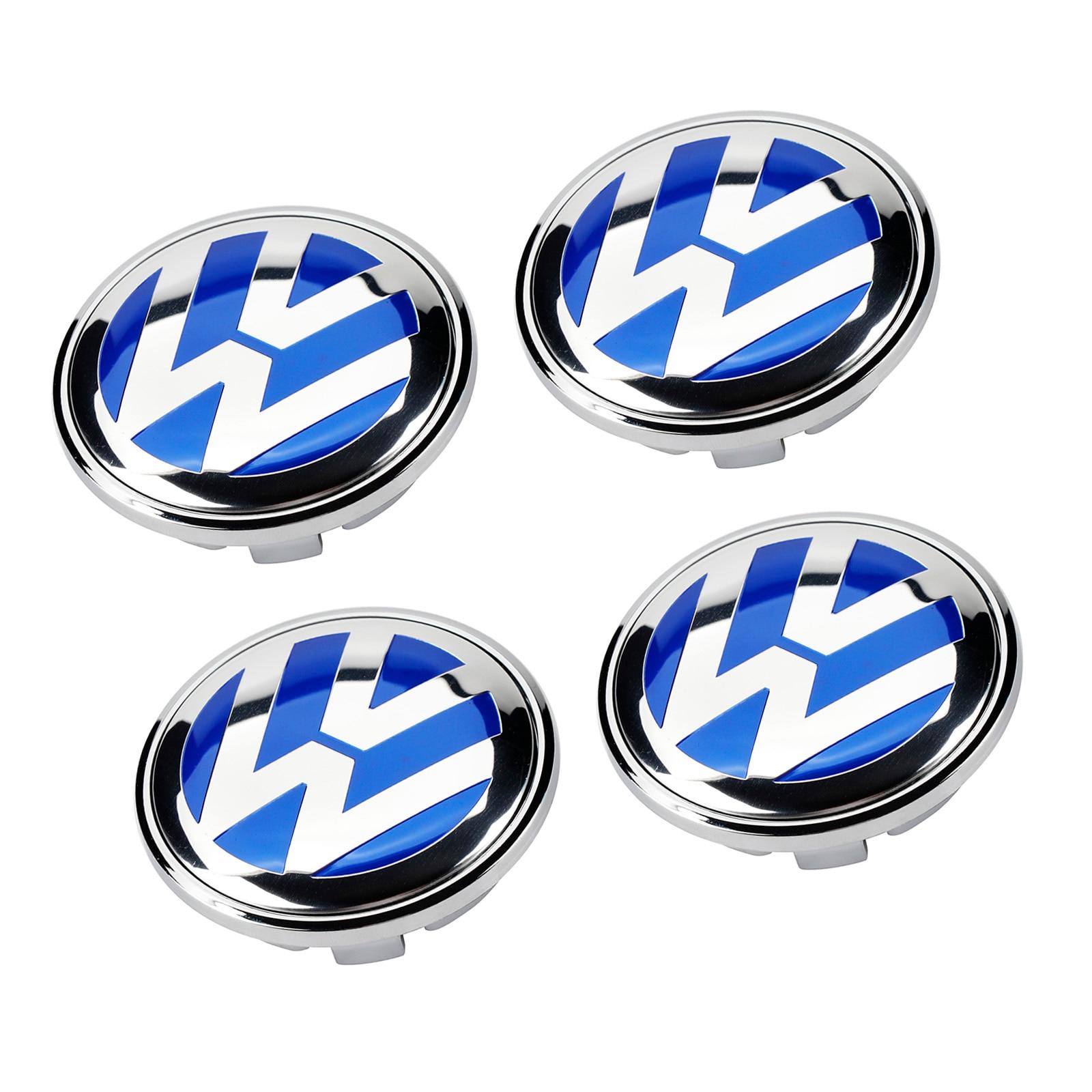 4 pçs/set Azul 65mm 3B7 601 171 Tampa Do Cubo Da Roda Cap Centro Logo Emblema Emblema para VW Volkswagen Jetta Golf Passat MK5