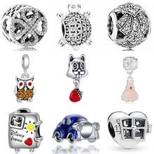 Luurious Crystal Butterfly Flowers Owl Dress Dog Squirrel Beads Charms Fit Pandora Bracelets & Bangl