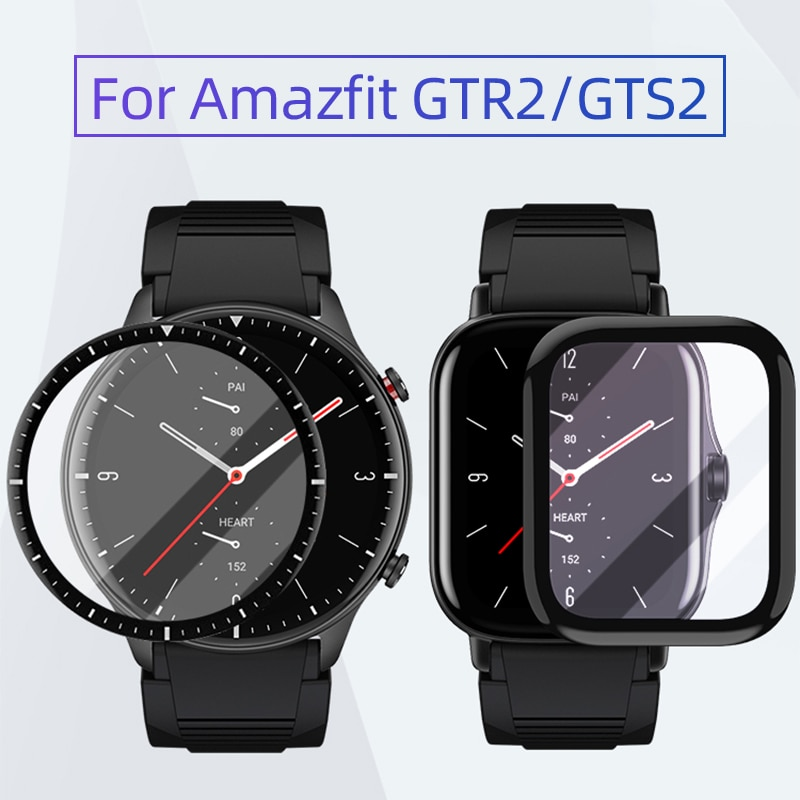 sikai 15w fast wireless charger phone watch stand removable for amazfit gtr2 gtr 2e gts2 gts2 mini gts 2e bip u pro t rex pro Soft Fibre Glass Film Cover For Amazfit GTR 2/GTS 2 GTR 2e/GTS 2e Bip U/Bip U Pro GTS2 Mini GTR2/GTS2 BipS Screen Protector Case