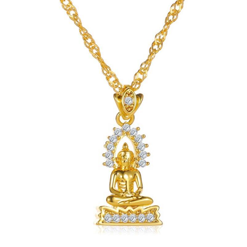 ¡Novedad de 2020! Collares de estilo de Nepal con colgante de Buda y jardín para mujeres y hombres, joyería de Color dorado, regalos de Tailandia/Vietnam/Laos