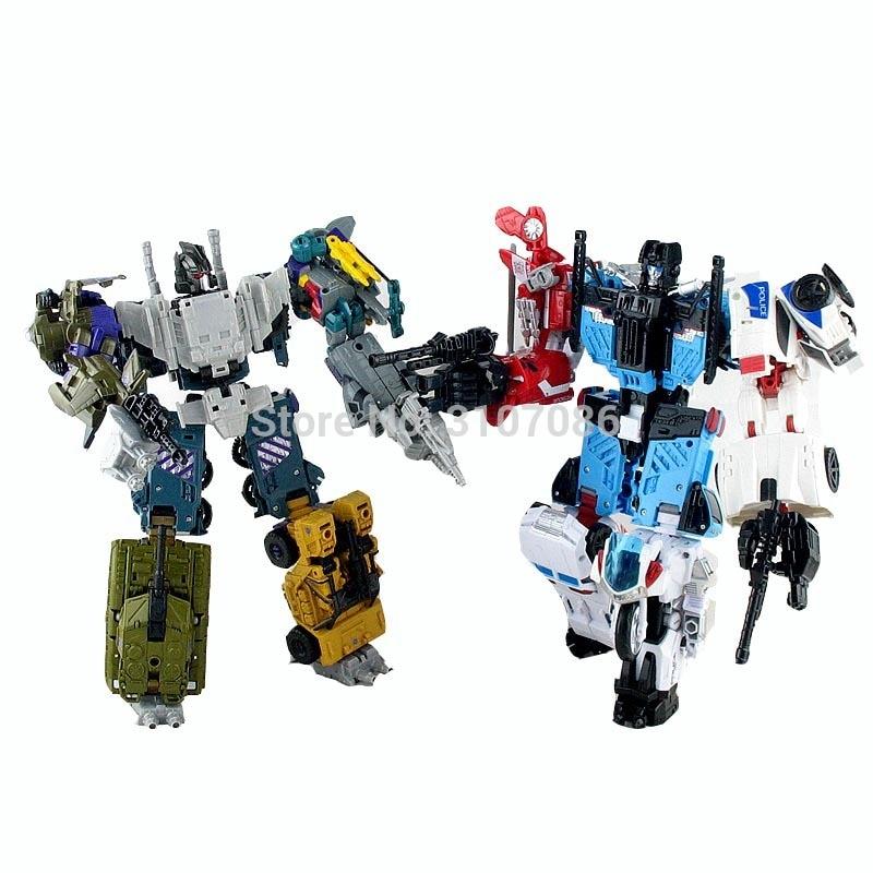 HZX Transformers Defensor & Bruticus IDW 5 en 1, conjuntos 5 en 1, equipo de guerra, Colección KO, figura de acción TF, juguetes Robot