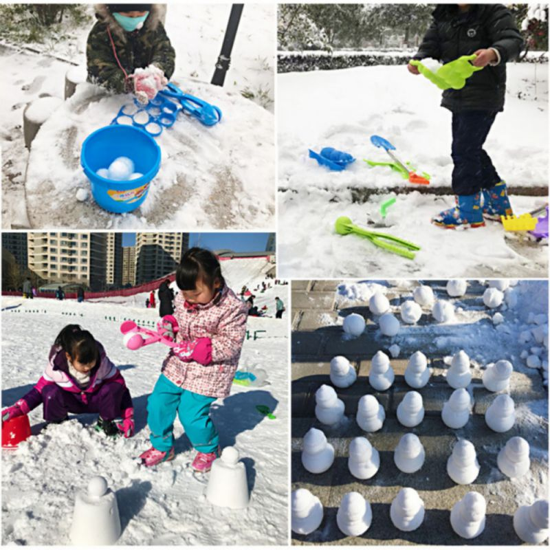 1pc Snowman Ball Shape Snow Snowball Maker Winter Plastic Snow Scoop Clip Mold Tool Kids Toy Early Craft Education