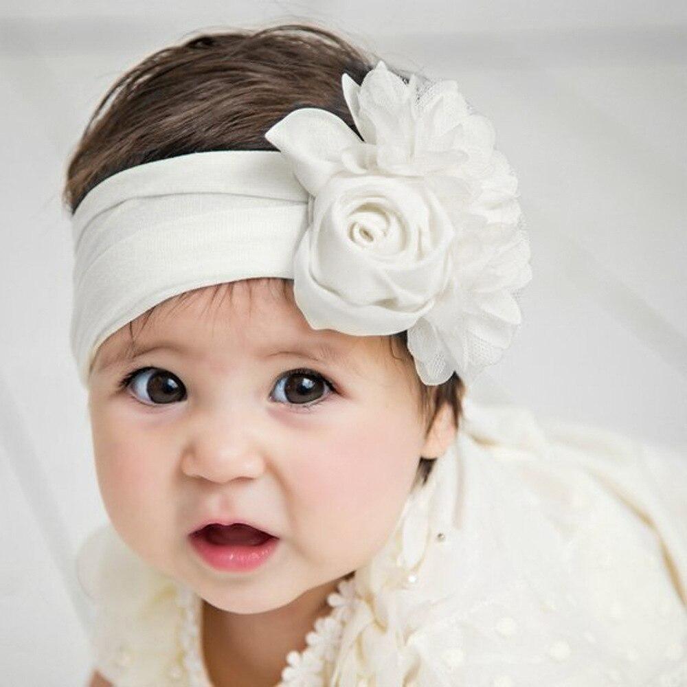 Bandana para crianças, acessórios para cabelo de criança, rosa flor, turbante, tiara de cabelo, acessórios para meninas