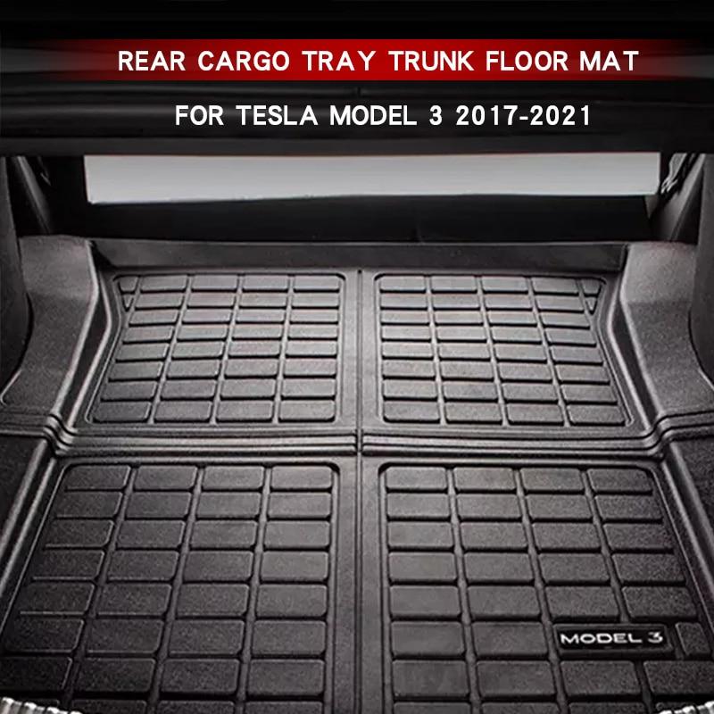 2021 New Car Trunk Mat For Tesla Model 3 Accessories Car Trunk Cargo Storage Pad Model3 2017-2021 TP