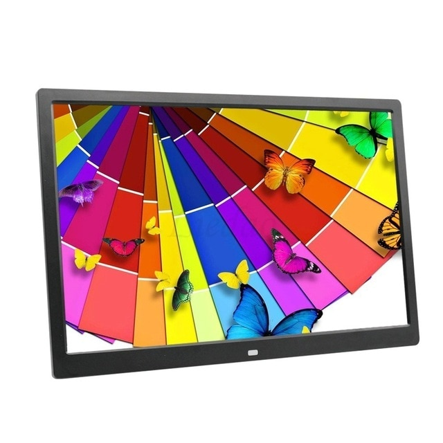 NEW 15 Inch LED Backlight HD 1280*800 Full Function Digital Photo Frame Electronic Album digitale Picture Music Video good gift