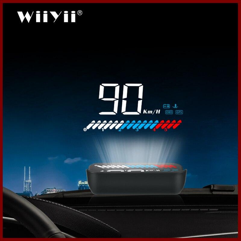 2019 جديد M7 نظام تحديد المواقع HUD سيارة OBD2 HUD رئيس يصل سرعة العرض OBD على متن الكمبيوتر تحذير السرعة الزائدة
