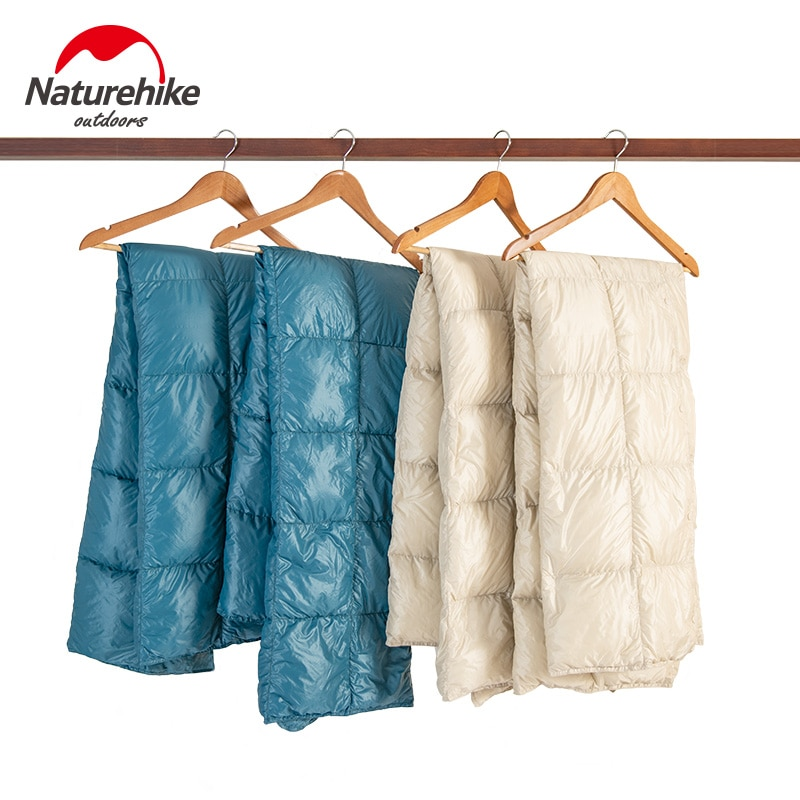 Naturehike, saco de dormir de ganso, chal, manta, colcha multifuncional para exteriores, Camping, viaje, portátil, Blan impermeable