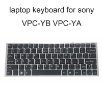replacement keyboards vpcyb for sony vaio vpcya vpc ya yb us english black with silver frame keyboard genuine new accessories
