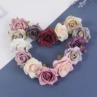Roses artificielles en soie  7cm  5 pieces lot  fausses fleurs  pour un mariage  pour une couronne  pour un Scrapbook  pour un cadeau  pour decorer la maison
