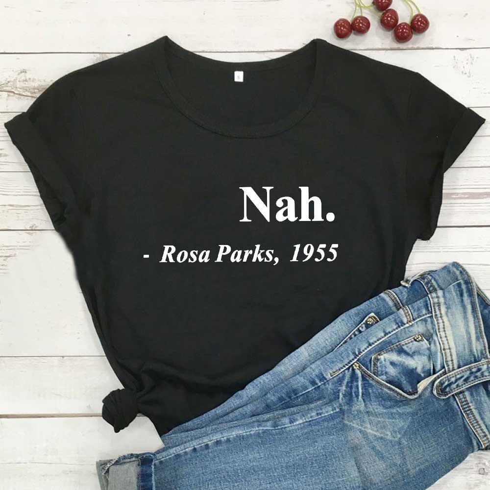 No Rosa parques 1955 Harajuku T camisa mujeres, Tops de verano, de...