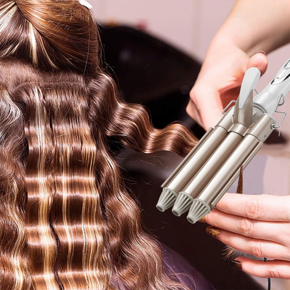 Electric Hair Curler Barrel Hair Curling Iron Wand Ceramic Fast Heating Hair Waver Curler Hair Waving Styling Tools