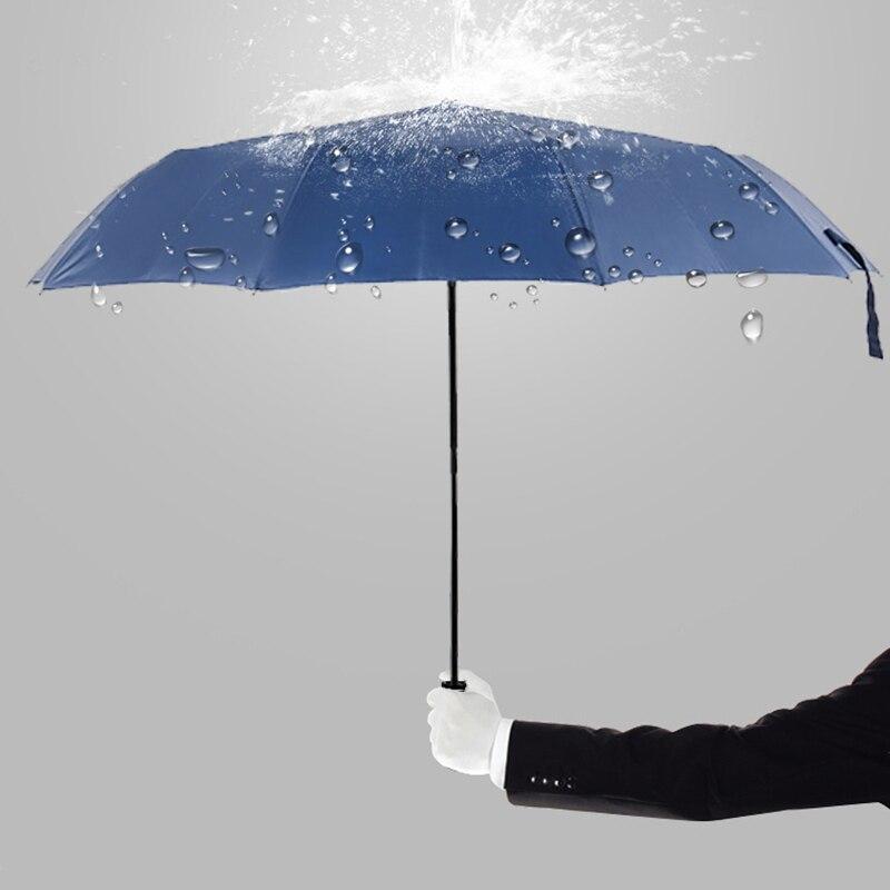 Paraguas plegable de tres ruedas de lluvia paraguas plegable de temporada de lluvia Parasol de viaje plegable a prueba de viento paraguas plegable Anti-UV