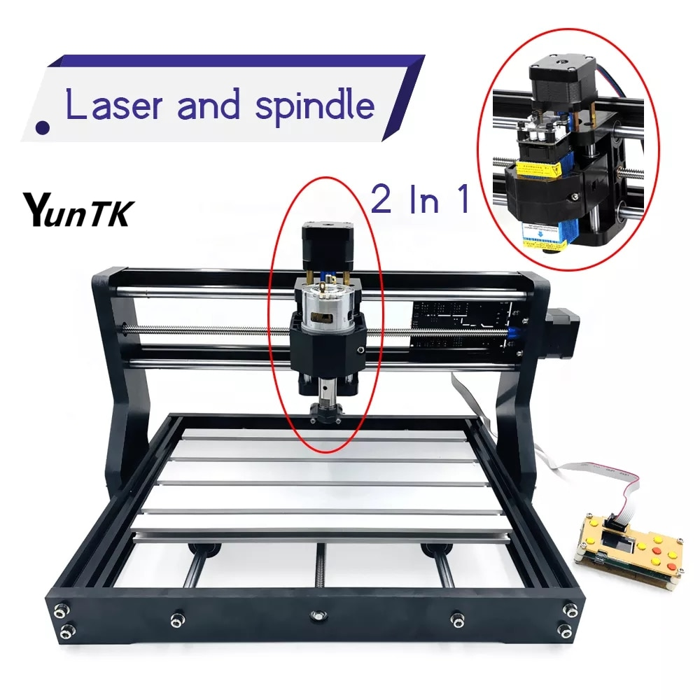 1500w wood router 4 axis cnc 8060 pcb milling machine cnc engraver with cutter bit 3018 Pro CNC  Router  Wood Laser Engraver DIY GRBL Controller 3 Axis With Offline Pcb Milling Machine Metal Engraving