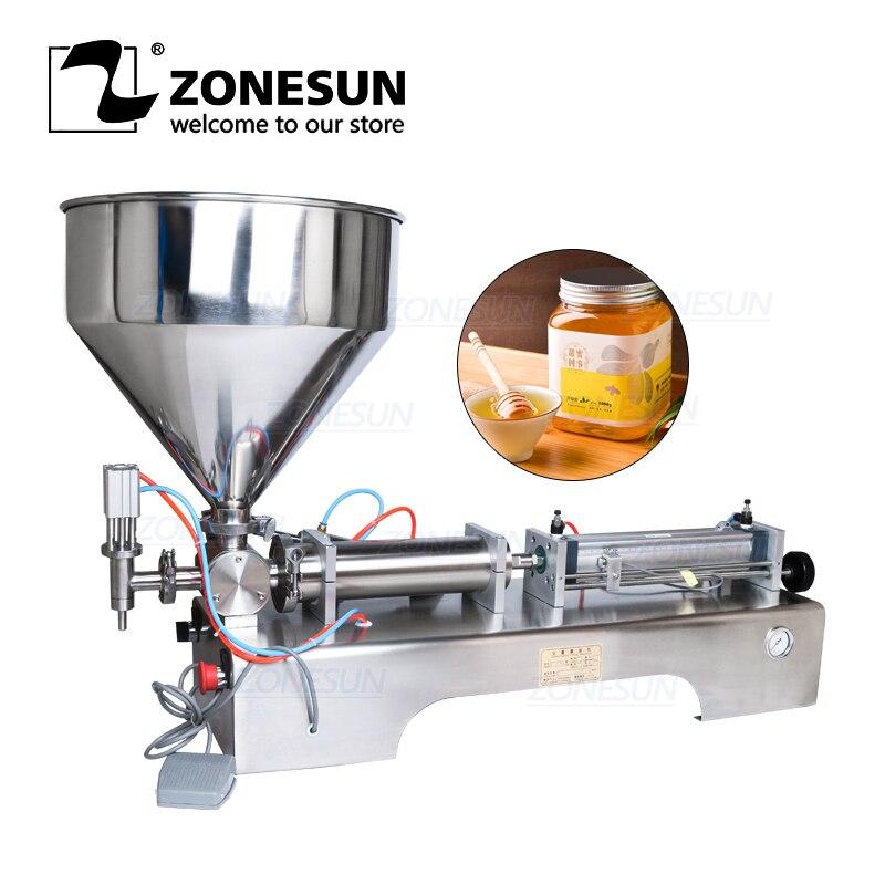 Пневматическая разливочная машина ZONESUN, объемный питьевой напиток, крем для лица, масло, вода, сок, мед, жидкость, бутылка, наполнитель