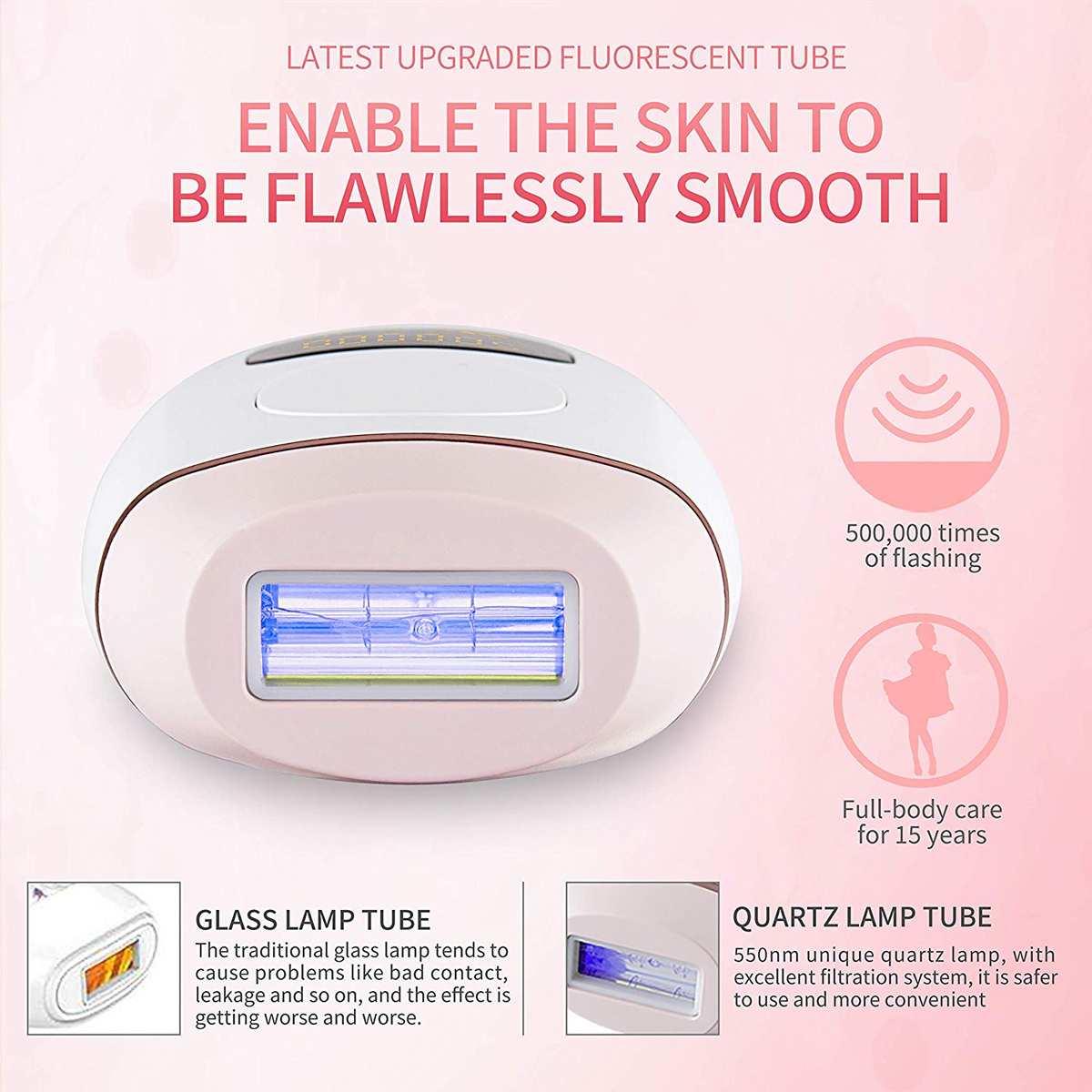 Upgrade 500000 Flash Professional Permanent IPL Epilator Laser Hair Removal 5 level LCD Display Bikini Painless Hair Remover enlarge