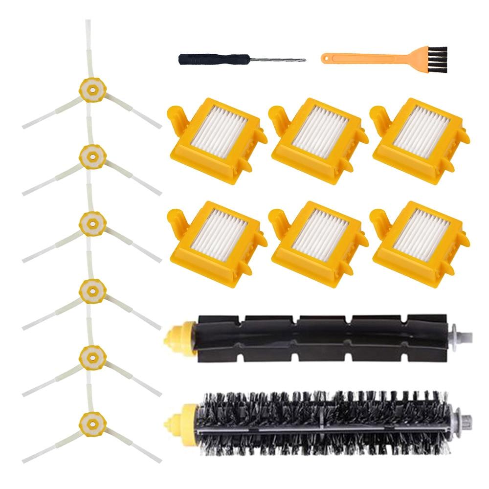 6 боковых щеток + 2 щетинок + 6 Hepa фильтрующих щеток для iRobot Roomba 700 серии 760 770 780 790 Запчасти для пылесоса